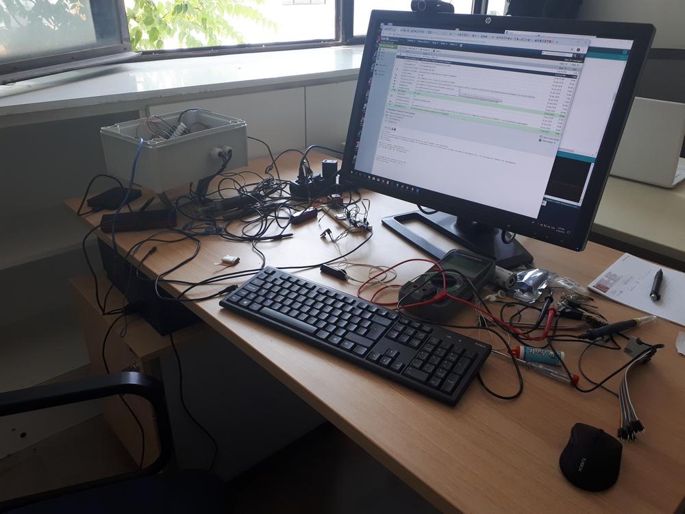 Ο σταθμός συνδεδεμένος με υπολογιστή