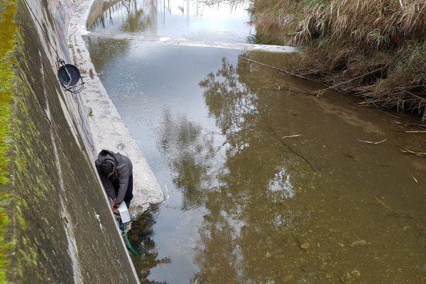 Φωτογραφία σταθμού παρακολούθησης υδάτων